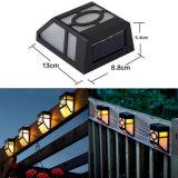La lumière solaire IP44 de mur imperméabilisent la lumière actionnée solaire sans fil extérieure solaire de lampes de mur pour l'éclairage de vestibule de voie de Gazebo de porche d'allée de yard de jardin