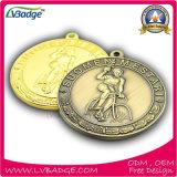Médaille faite sur commande de concurrence avec le logo et la lanière