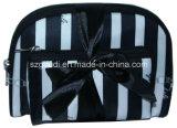 Saco cosmético da embalagem durável Washable do curso do poliéster da listra com curva