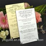 Nueva invitación de la boda de acrílico grabada 11b nombres de invitados