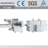 Автоматическая высокоскоростная горизонтальная машина обруча Shrink жары Fs-590