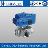Price basso Electric Three Way Ball Valve con Factory Price