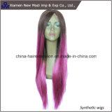 Parrucca sintetica della parte anteriore del merletto dei capelli delle parrucche della Cina