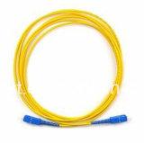 (Telecommunicatie CATV) de DuplexKabel van het Koord van het Flard van de Verbindingsdraad van de Vezel lC-Sc Optische
