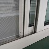 Guichet en aluminium enduit de profil de la poudre Kz006 avec la moustiquaire en croissant de blocage, guichet de glissement en aluminium/guichet de glissement en aluminium
