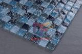 青い水晶の割れたガラスモザイク・タイル(CC164)