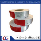 Rot und White PVC Crystal Lattice Reflective Tape (C3500-B (D))