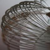 Lâmpada decorativa moderna do pendente da trilha do globo do aço inoxidável do cromo