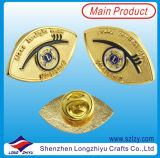 Forma de Ojo Lions Clubs Lapel Pin Back in Gold
