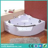 Bañera agradable de la esquina del masaje del diseño con el vidrio (control neumático TLP-632)