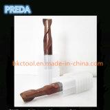 10mm 2 플루트 탄화물 절단기 HRC60 Tisin 청동색 코팅