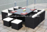 Outdoor / Indoor Rattan Cube Table à manger Garden Line Meubles de patio