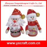 Ornamentos de la Navidad del tarro del almacenaje de la Navidad de la decoración de la Navidad (ZY16Y063-1-2 los 26CM) con nombres