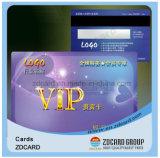 Cartes de visite professionnelle de visite en plastique claires noires estampées de PVC