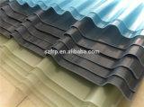 Feuille ondulée colorée transparente résistant aux chocs de toiture de lumière du soleil en verre de fibre de feuille de la Chine FRP