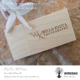 Caja de madera de Hongdao para la impulsión de destello del USB
