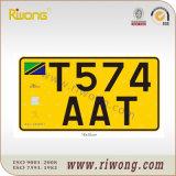 Targa di immatricolazione del veicolo della Tanzania Mc
