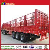 Rimorchio in serie del camion del carico di Gooseneck dell'Tri-Asse di trasporto delle merci