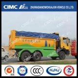Carro de vaciado de Beiben 6*4 con la cubierta automática y el protector seguro integrado