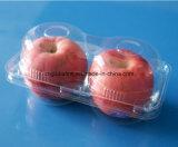 Bandeja de empaquetado de la fruta plástica para Apple 2 pedazos