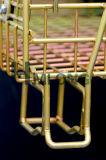 Jaula de acero amontonable soldada almacén del alambre del rodillo de almacenaje