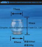 Runder transparenter Glasware-Kerze-Halter