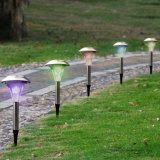 Solar Stainless Steel Color Changing Garden Stake Light (RS032)