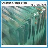4mm-19mm curvou vidro Tempered para o vidro do vidro de segurança/edifício