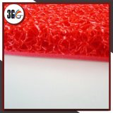 Espuma que suporta a esteira do coxim do PVC da cor vermelha