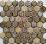 Hexagonbrown-spezieller Muster-Kamin-keramische Mosaik-Dekoration (CST296)