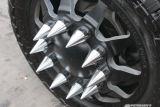 Cubiertas plásticas de la tuerca del terminal del carro del cromo de plata rápido