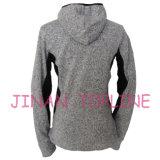 女性の方法Hoodyの図おだての担保付きのマイクロ羊毛のジャケット