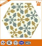 Azulejo hexagonal pintado a mano artístico de la porcelana del suelo del ladrillo del material de construcción de China
