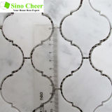 La lámpara de mármol blanca de mármol de Carrara Mosaico de mármol para el cuarto de baño