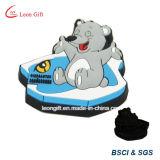 Kundenspezifischer Karikatur-Bären-Tierentwurf Belüftung-Gummikühlraum-Magnet