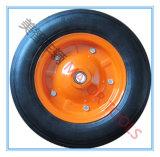 14X3 긴 허브 단단한 고무 타이어 수레 손수레 바퀴