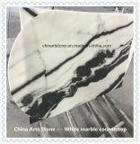 円形または長方形のレストランの机のための中国白の大理石