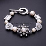 Neue Form-luxuriöse elegante Schmucksache-Perlen-Kristalldiamant-Charme-Armband