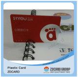 Cartão transparente clássico do plástico MIFARE RFID com FM4428