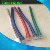 Espulsore dentale a gettare trasparente della saliva del PVC con la punta