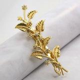 Ouro de cristal gancho de cabelo pequeno chapeado de Sun da estrela da folha