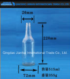 Bottiglia di vetro cilindrica della birra di figura per memoria del vino