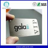 O cartão feito sob encomenda do metal do VIP, ouro chapeou cartões do metal