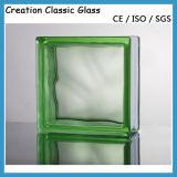Excelente em bloco de vidro colorido