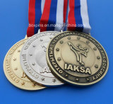 Medaglia su ordinazione del premio di funzionamento di maratona d'argento dorata
