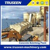 Hzs 120m3/H неподвижное подготавливает план завода смешивания конкретный для конструкции