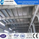 Alto magazzino di due piani poco costoso della struttura d'acciaio di Qualtity con il disegno