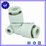 Garnitures pneumatiques filetées par tube d'unité centrale d'air de la Chine de tuyaux en métal en plastique pneumatique de garnitures