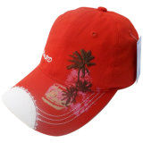 Gorra de béisbol lavada roja con el Applique Gjwd1730 de 2 capas