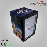 Réfrigérateur intrinsèque amorti compact, réfrigérateur de partie supérieure du comptoir d'hôtel (SC68)